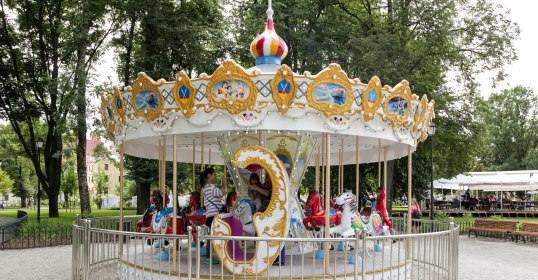 The carrousel is now running in Bernardine Garden